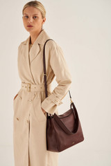 Oroton Byron Large Hobo in Maple and Pebble Leather for female