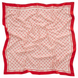 Oroton Anna Scarf in Cherry/Linen and 100% Silk for female