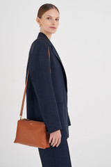 Oroton Sadie Crossbody in Toffee and Pebble Leather for female