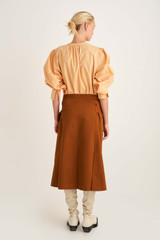 Oroton Utility Skirt in Umber and 100% Cotton for female
