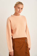 Oroton Rib Knit in Pale Mango and 100% Wool for female