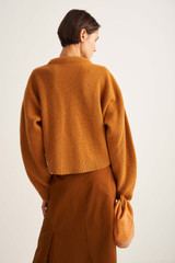 Oroton Rib Knit in Turmeric and 100% Wool for female