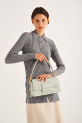 Oroton Alva Day Bag in Greystone and Pebble Leather for female