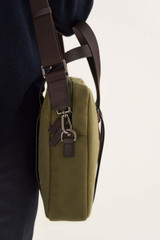 Oroton Bailey Griptop in Army/Hickory and Drill Cotton Canvas for male