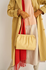 Oroton Celia Covered Day Clutch in Butter and Smooth Leather for female