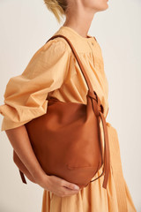 Oroton Brodie Soft Hobo in Brandy and Smooth Leather for female
