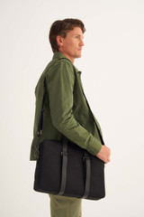 Oroton Bailey Griptop in Black and Drill Cotton Canvas for male