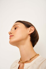 Oroton August Necklace in Gold and Brass Base Metal With Precious Metal Plating for female