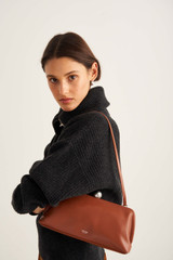 Oroton Nova Clutch in Brandy and Smooth Leather for female