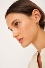 Oroton Zabel Hoops in Gold and Brass Base Metal With Precious Metal Plating for female