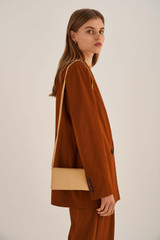 Oroton Heath Wallet Crossbody in Mango and Smooth Leather for female