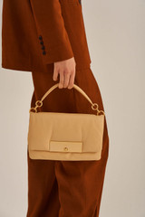 Oroton Heath Day Bag in Mango and Smooth Leather for female