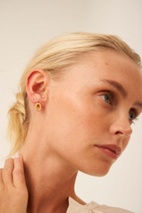 Oroton Mackenzie Studs in Worn Gold and Brass Base Metal With Precious Metal Plating for female