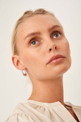 Oroton Cora Small Hoops in Silver and Brass Base Metal With Precious Metal Plating for female