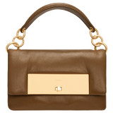 Oroton Heath Mini Day Bag in Deep Olive and Smooth Leather for female