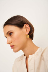 Oroton Lottie Hoops in Gold and Brass Base Metal With Precious Metal Plating for female