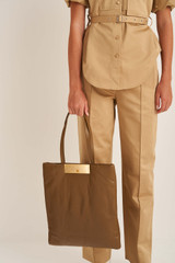 Oroton Heath Tote in Deep Olive and Smooth Leather for female