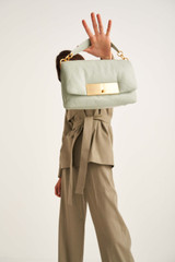 Oroton Heath Day Bag in Greystone and Smooth Leather for female