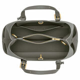 Oroton Margot Mini Day Bag in Deep Grey and Pebble Leather for female
