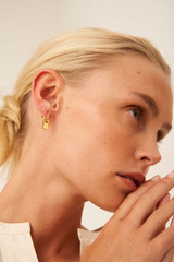 Oroton Lottie Charm Hoops in Gold and Brass Base Metal With Precious Metal Plating for female