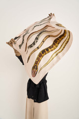 Oroton Snake Scarf in Snake Print and 100% Silk for female
