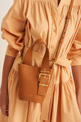 Oroton Ember Bucket in Maple and Pebble Leather for female