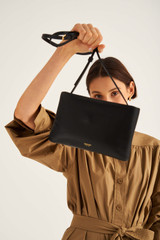 Oroton Heath Zip Crossbody in Black and Smooth Leather for female