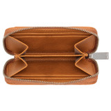 Oroton Tilda 7 Credit Card Zip Wallet in Maple and Pebble Leather for female