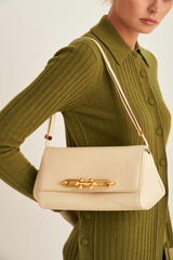 Oroton Tilda Day Bag in Pale Blonde and Pebble Leather for female