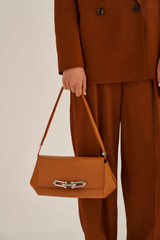 Oroton Tilda Day Bag in Maple and Pebble Leather for female
