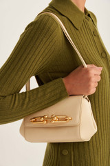 Oroton Tilda Small Day Bag in Pale Blonde and Pebble Leather for female