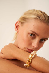 Oroton Eloise Resin Bracelet in Gold/Tort and Brass Base Metal With Precious Metal Plating for female