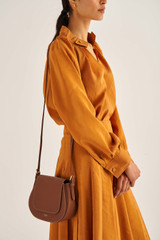 Oroton Soft Blouse in Maple and 75% Viscose 25% Polyester for female
