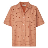 Oroton Broderie Shirt in Soft Clay and 100% Cotton for female