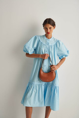 Oroton Gathered Dress in Lagoon and 100% Cotton for female