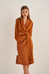 Oroton Robe Dress in Tan and 75% Viscose 25% Polyester for female