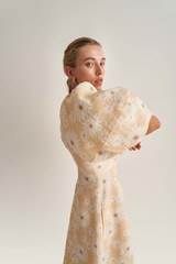 Oroton Daisy Print Dress in Pale Mango and 100% Linen for female