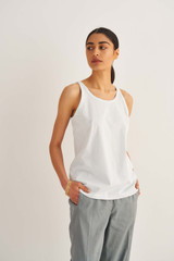 Oroton Jersey Tank in Pale Blue and 100% Cotton for female