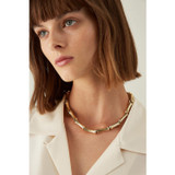Oroton Bamboo Choker in Gold and Brass Base With Precious Metal Plating for female
