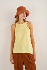 Oroton Jersey Tank in Lemon Zest and 100% Cotton for female