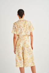 Oroton Garden Floral Shirt in Sugarcane and 100% Linen for female