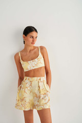Oroton Garden Floral Bralet in Sugarcane and 100% Cotton for female