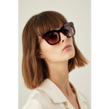 Oroton Isabelle Sunglasses in Tort/Brown and Acetate for female