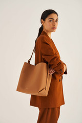 Oroton Margot Hobo in Husk and Pebble Leather for female