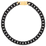 Oroton Noa Necklace in Black/Worn Gold and Brass Based Metal With Precious Metal Plating/Powder Coating for female
