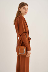 Oroton Cole Mini Day Bag in Cognac and Smooth Leather for female