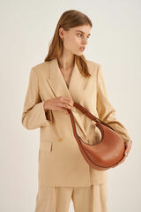 Oroton Arne Small Moulded Bag in Brandy and Smooth Leather for female