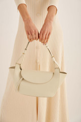 Oroton Clement Small Tote in Ecru and Pebble Leather for female