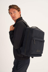 Oroton Carlos Backpack in Dark Ink/Black and Nylon for male