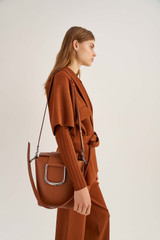 Oroton Cole Bucket Bag in Cognac and Smooth Leather for female